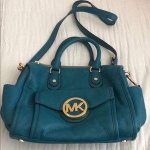 Gorgeous teal Michael Kors purse